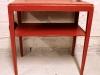 60-luvun punainen yöpöytä
